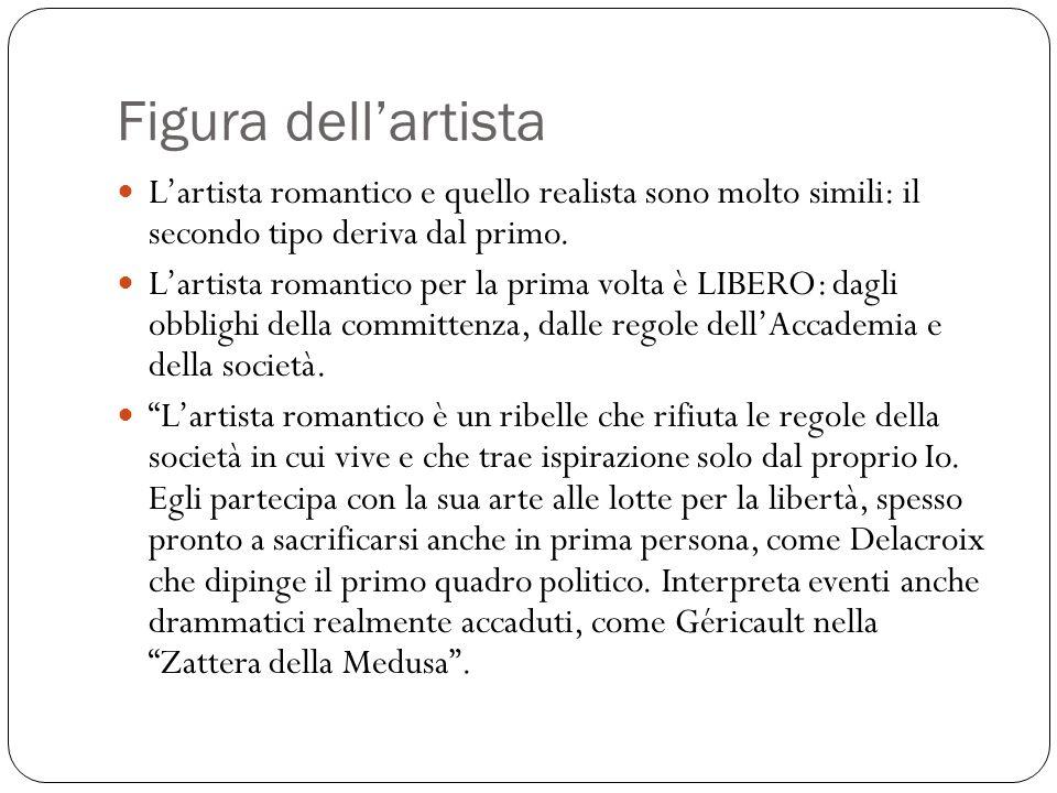Figura dell'artista L'artista romantico e quello realista sono molto simili: il secondo tipo deriva dal primo.