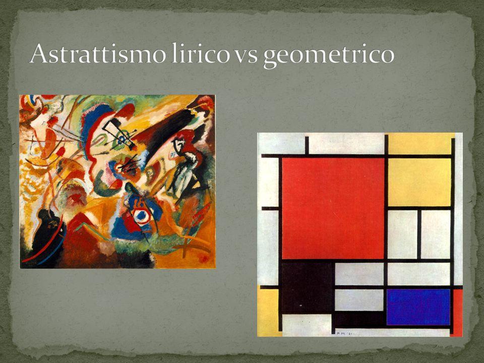Astrattismo lirico vs geometrico