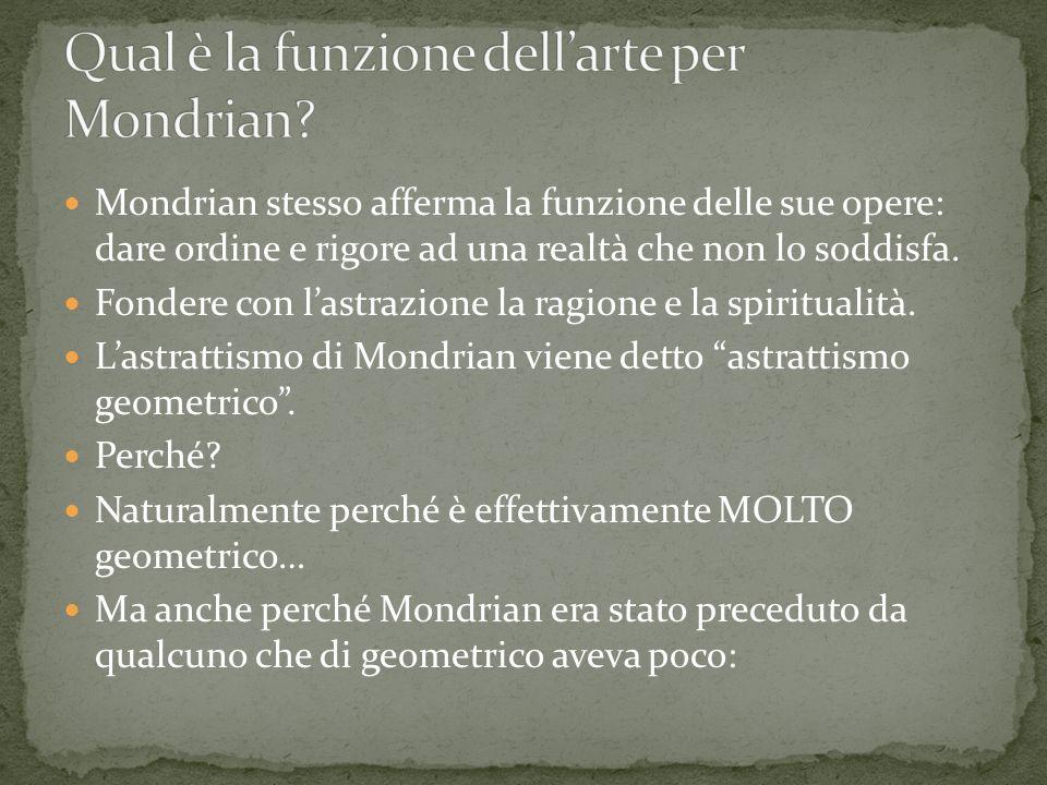 Qual è la funzione dell'arte per Mondrian