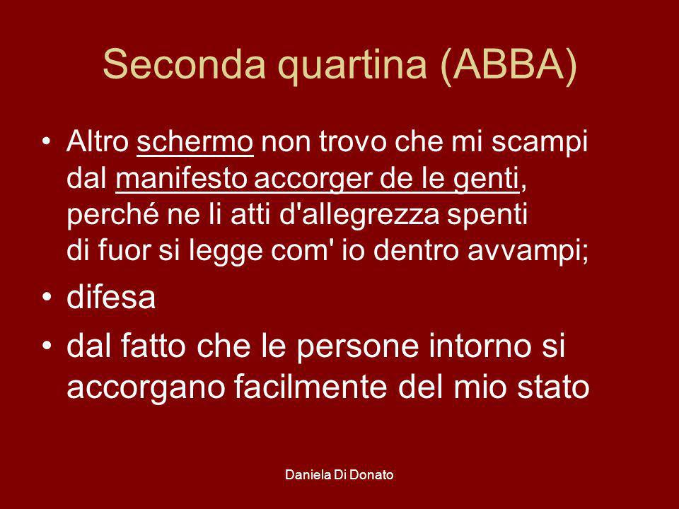 Seconda quartina (ABBA)