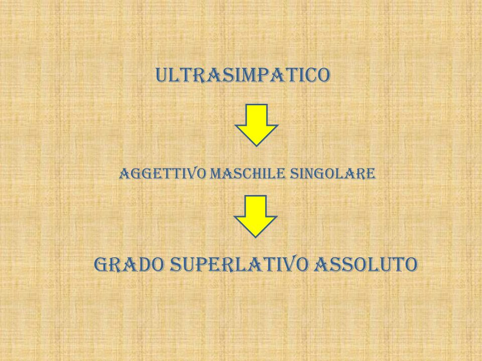 GRADO SUPERLATIVO ASSOLUTO