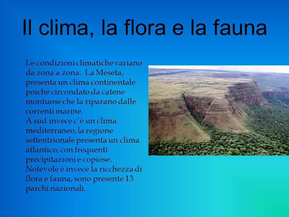 Il clima, la flora e la fauna
