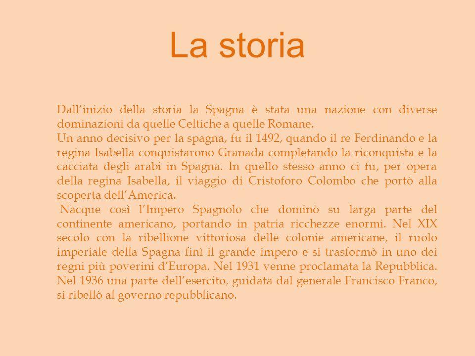 La storia Dall'inizio della storia la Spagna è stata una nazione con diverse dominazioni da quelle Celtiche a quelle Romane.