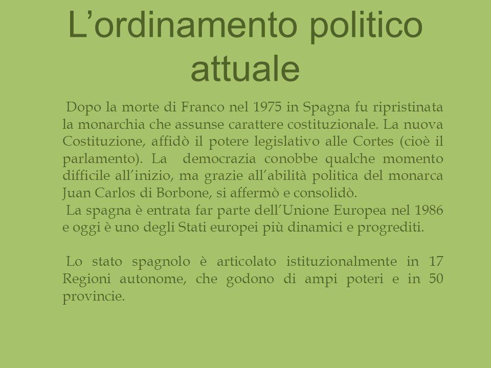 L'ordinamento politico attuale