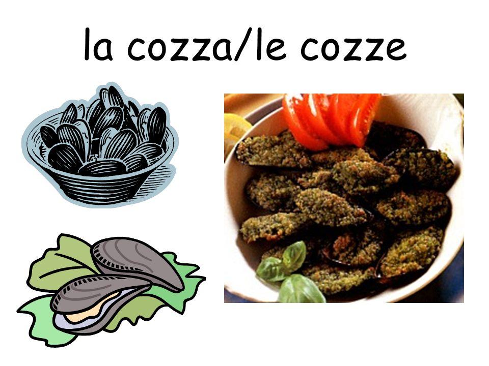 la cozza/le cozze