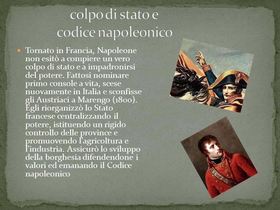 colpo di stato e codice napoleonico