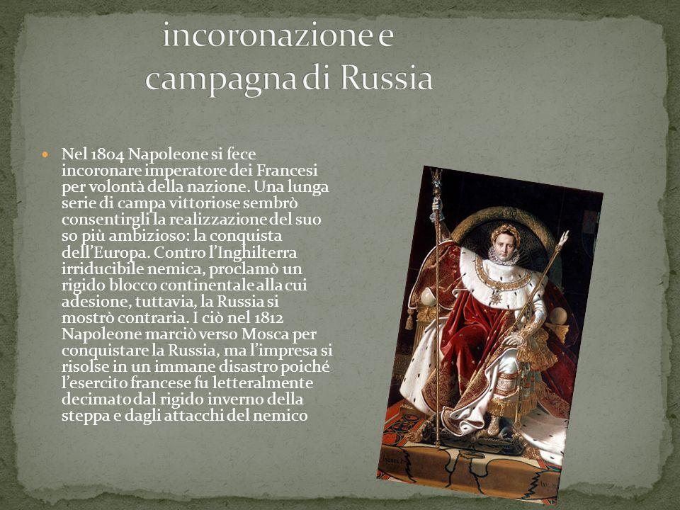 incoronazione e campagna di Russia