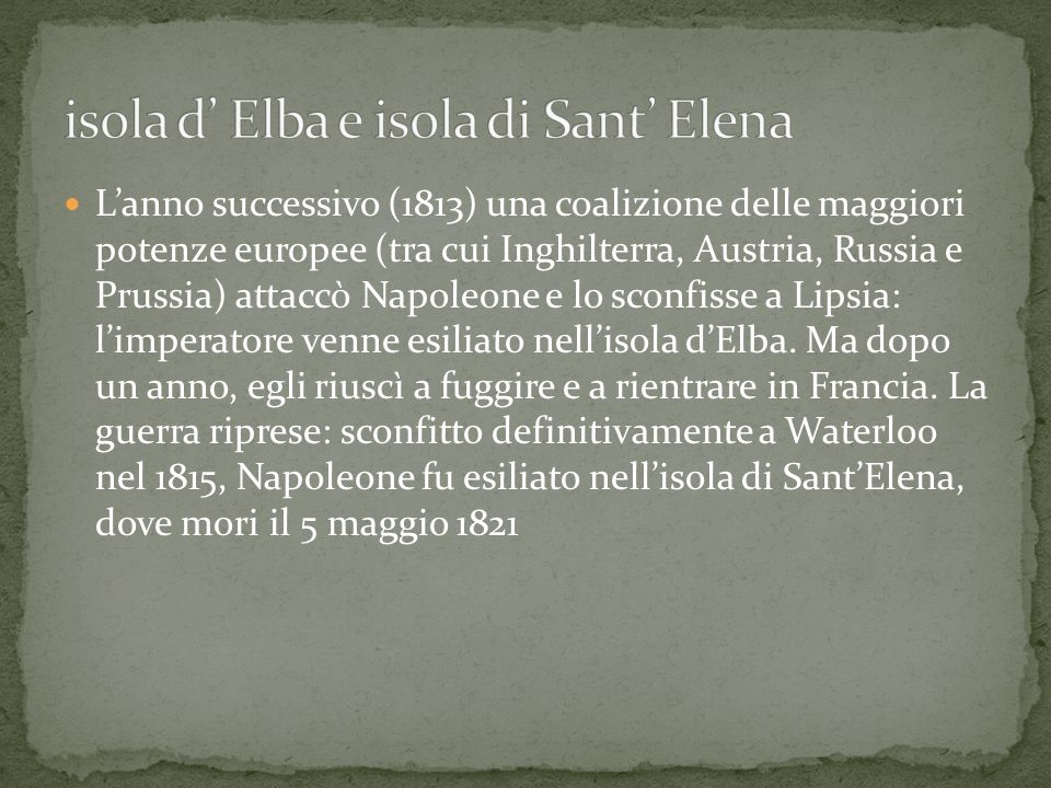 isola d' Elba e isola di Sant' Elena