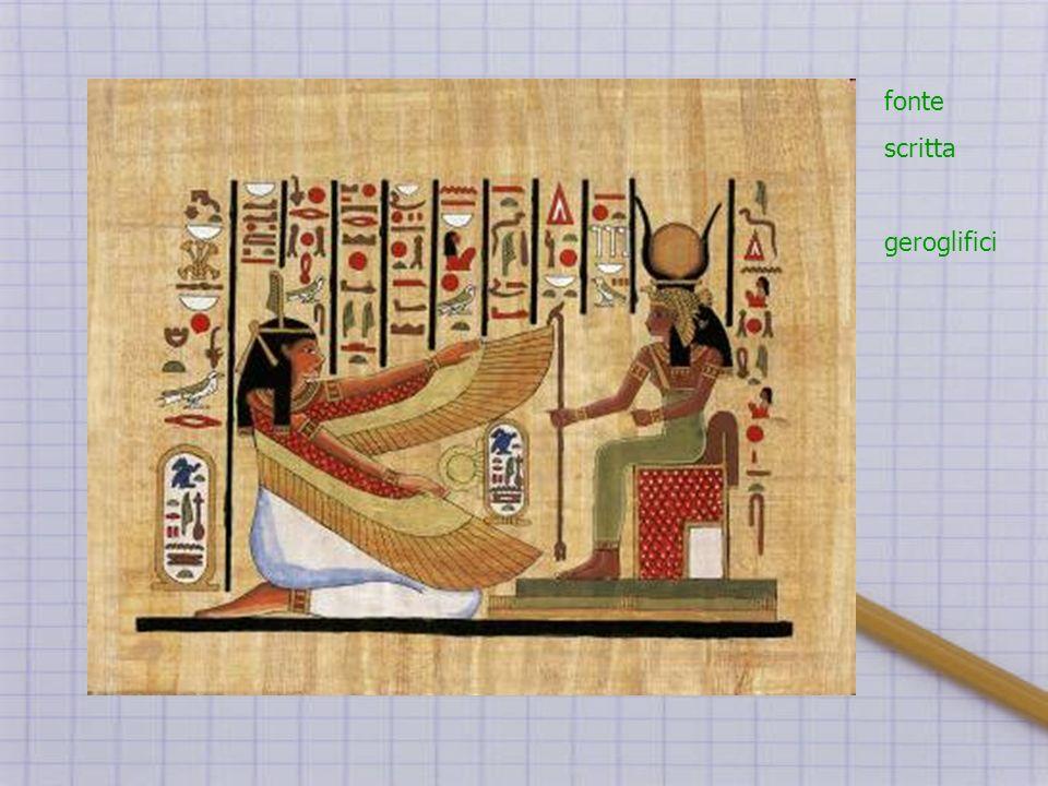 fonte scritta geroglifici