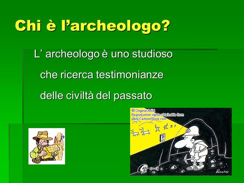 Chi è l'archeologo.