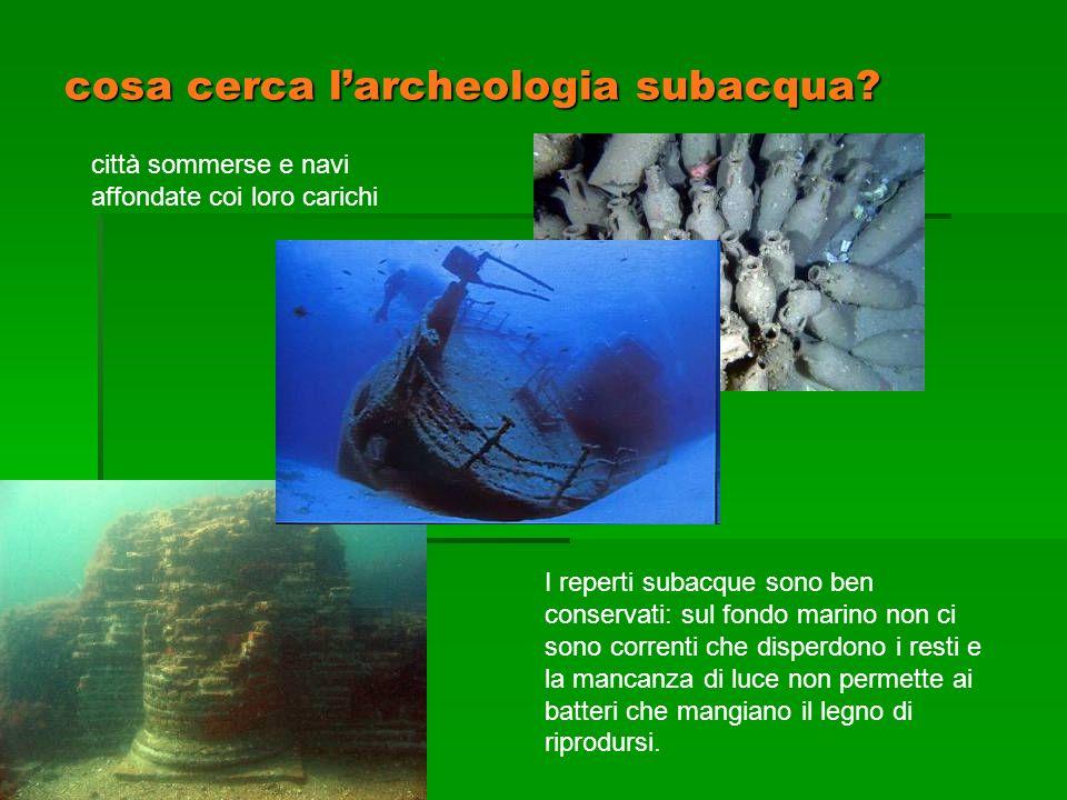 cosa cerca l'archeologia subacqua