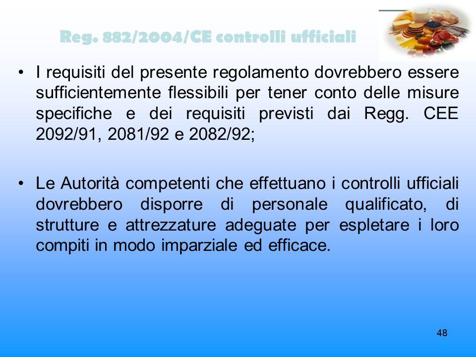 Reg. 882/2004/CE controlli ufficiali
