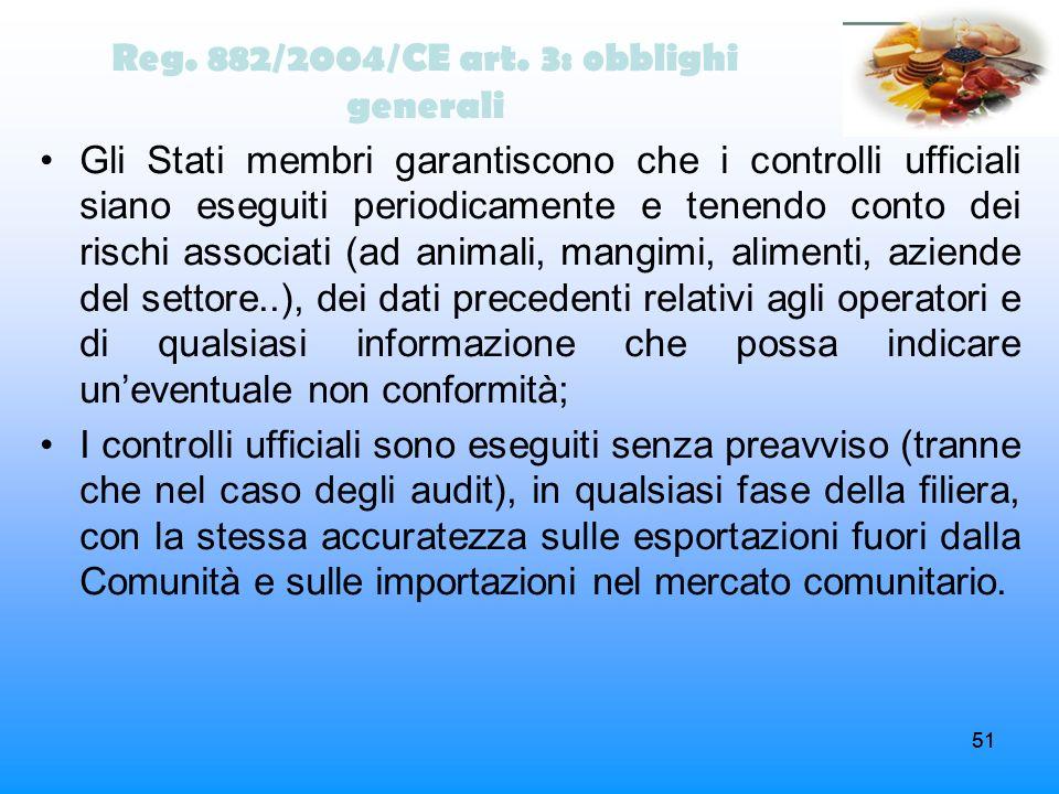 Reg. 882/2004/CE art. 3: obblighi generali