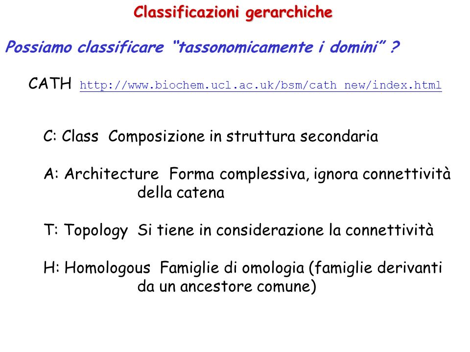 Classificazioni gerarchiche