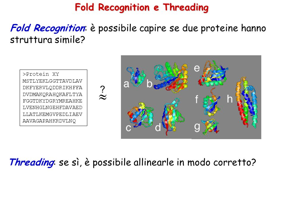 Fold Recognition e Threading