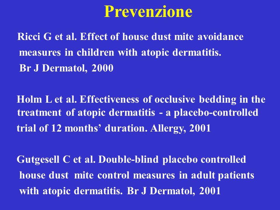 Prevenzione Ricci G et al. Effect of house dust mite avoidance