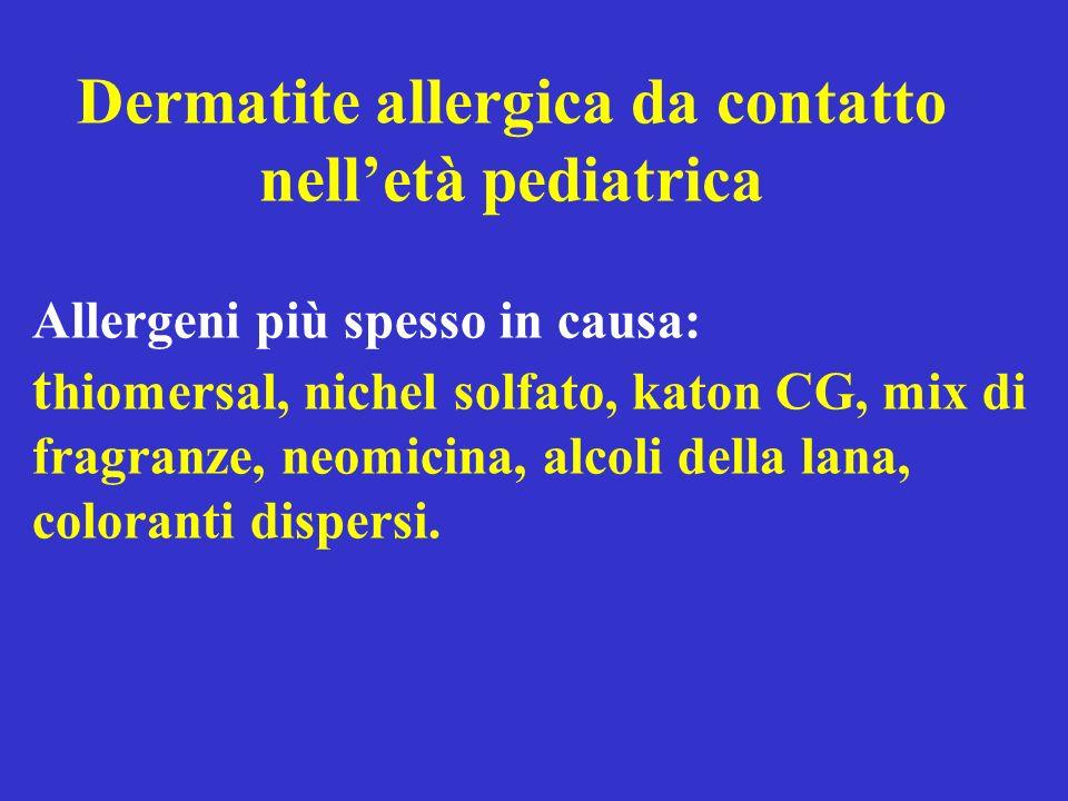 Dermatite allergica da contatto nell'età pediatrica