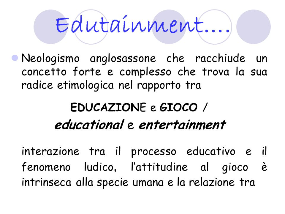 educational e entertainment