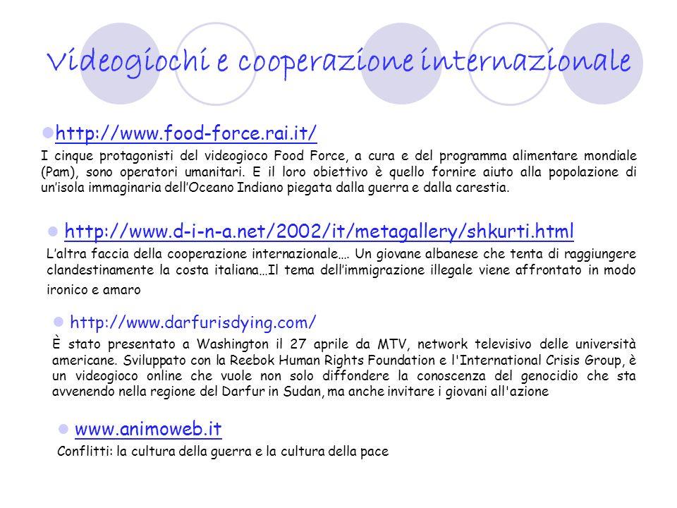 Videogiochi e cooperazione internazionale