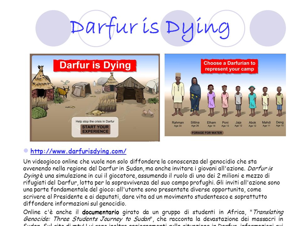 Darfur is Dying http://www.darfurisdying.com/
