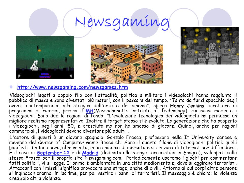 Newsgaming http://www.newsgaming.com/newsgames.htm