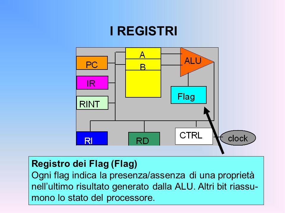 I REGISTRI Registro dei Flag (Flag)