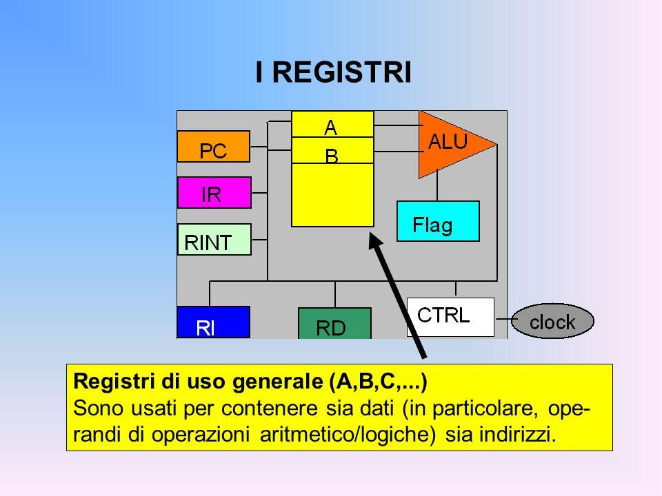 I REGISTRI Registri di uso generale (A,B,C,...)