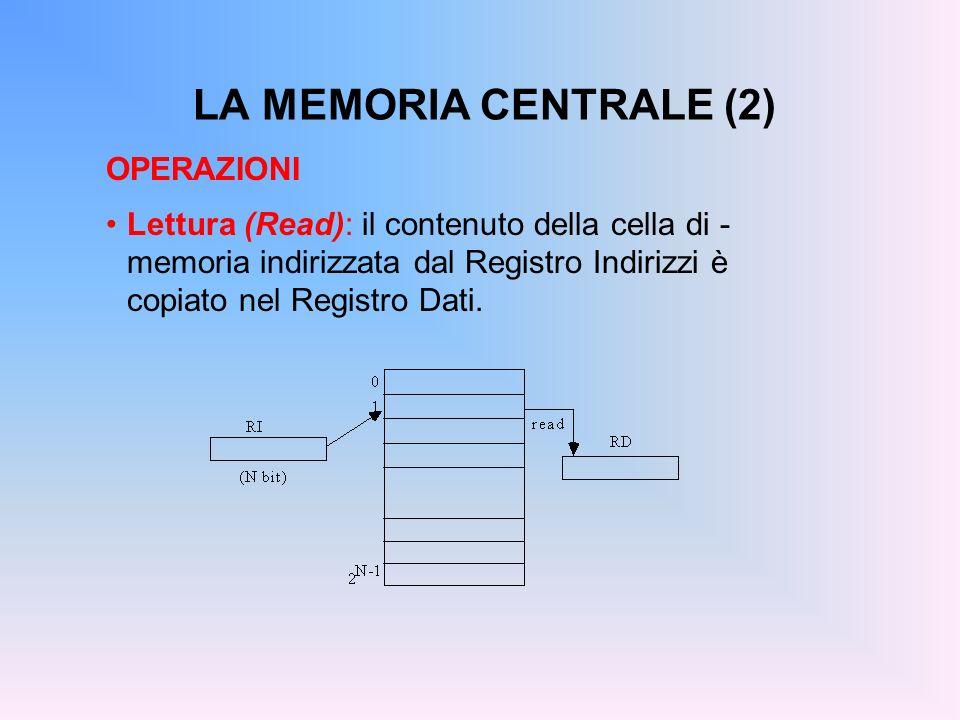 LA MEMORIA CENTRALE (2) OPERAZIONI