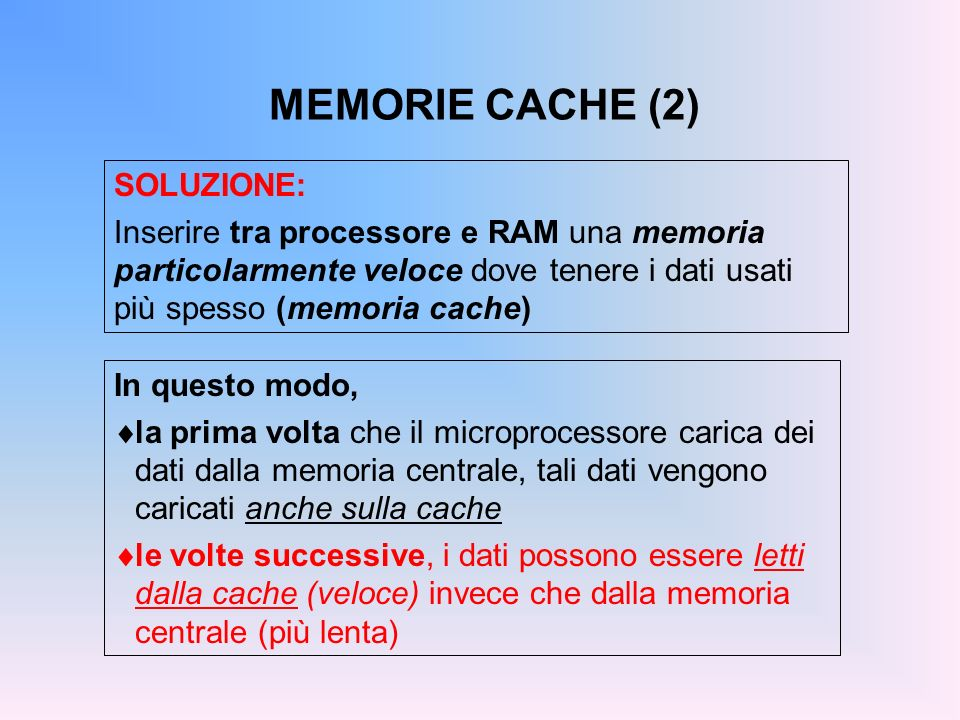 MEMORIE CACHE (2) SOLUZIONE: