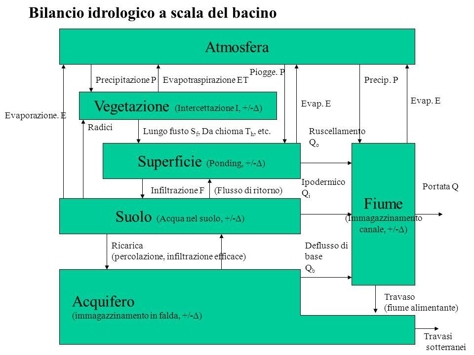 Bilancio idrologico a scala del bacino