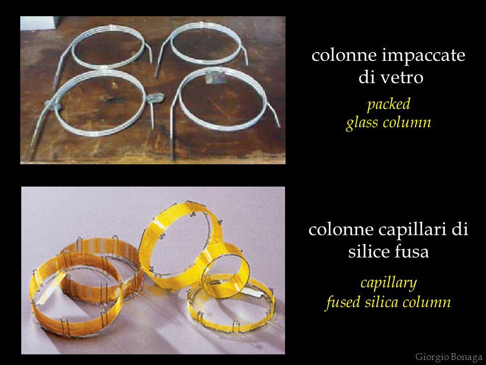 colonne impaccate di vetro