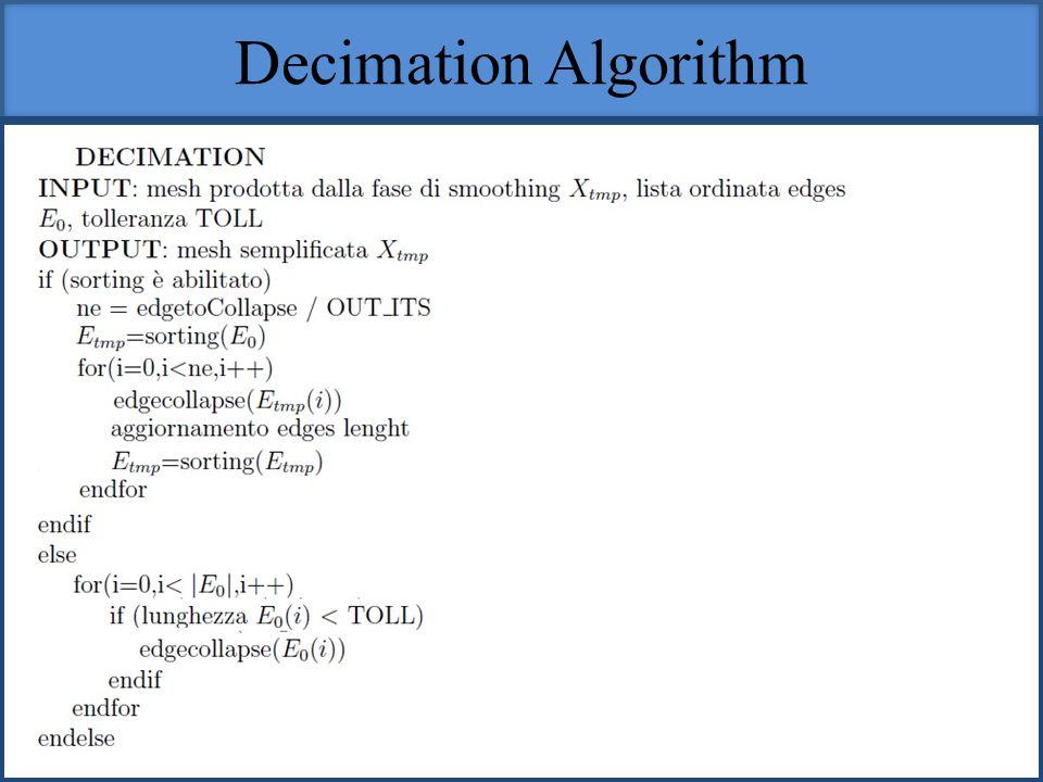 Decimation Algorithm