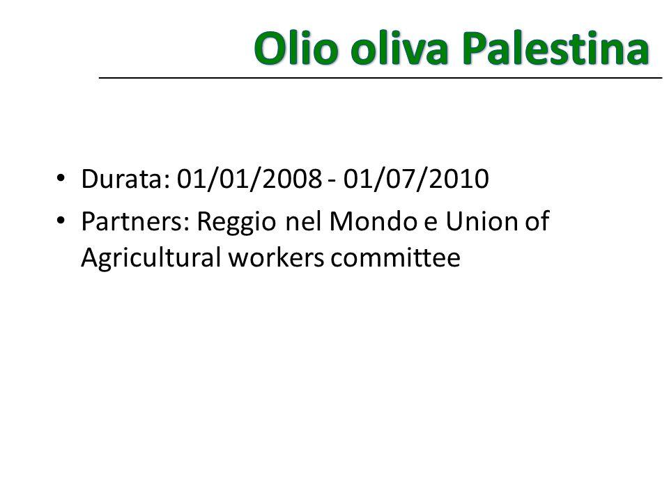Olio oliva Palestina Durata: 01/01/2008 - 01/07/2010