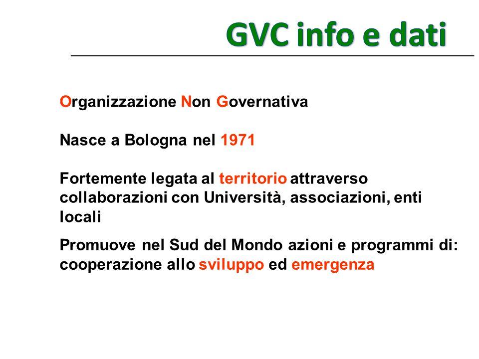 GVC info e dati Organizzazione Non Governativa