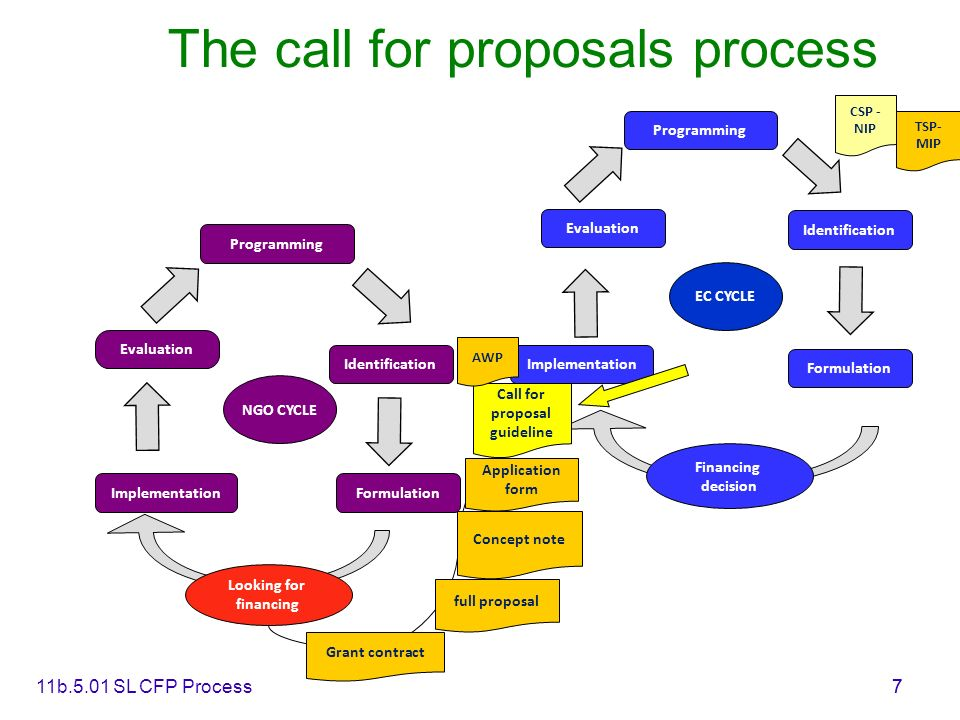 The call for proposals process