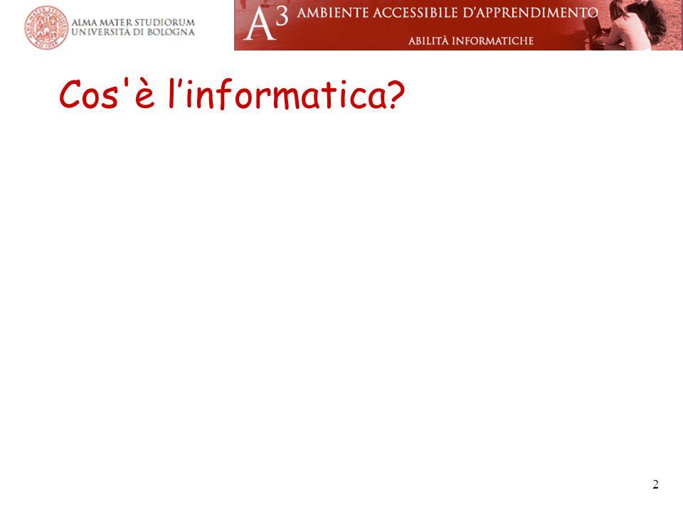 Cos è l'informatica