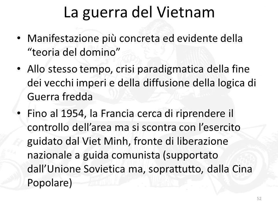 La guerra del Vietnam Manifestazione più concreta ed evidente della teoria del domino