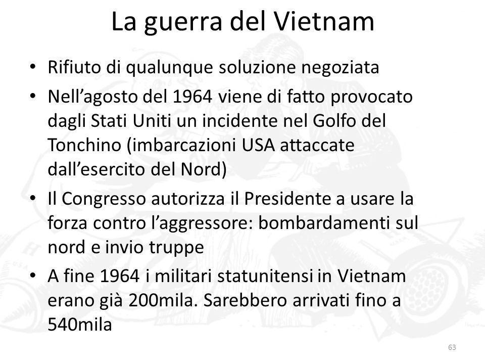 La guerra del Vietnam Rifiuto di qualunque soluzione negoziata