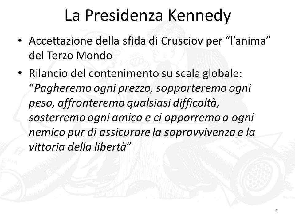 La Presidenza KennedyAccettazione della sfida di Crusciov per l'anima del Terzo Mondo.