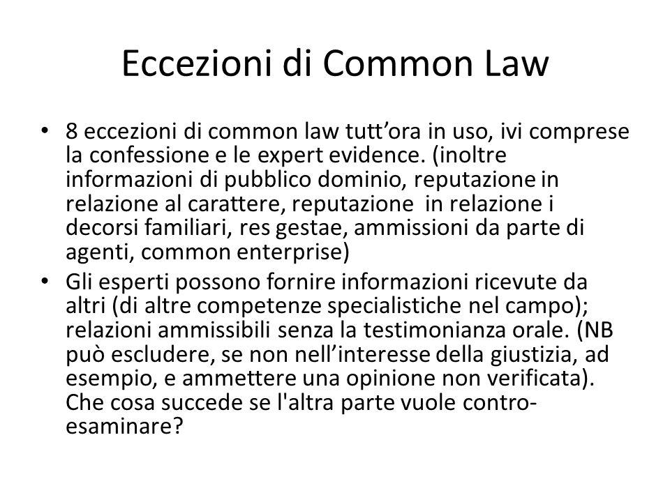Eccezioni di Common Law