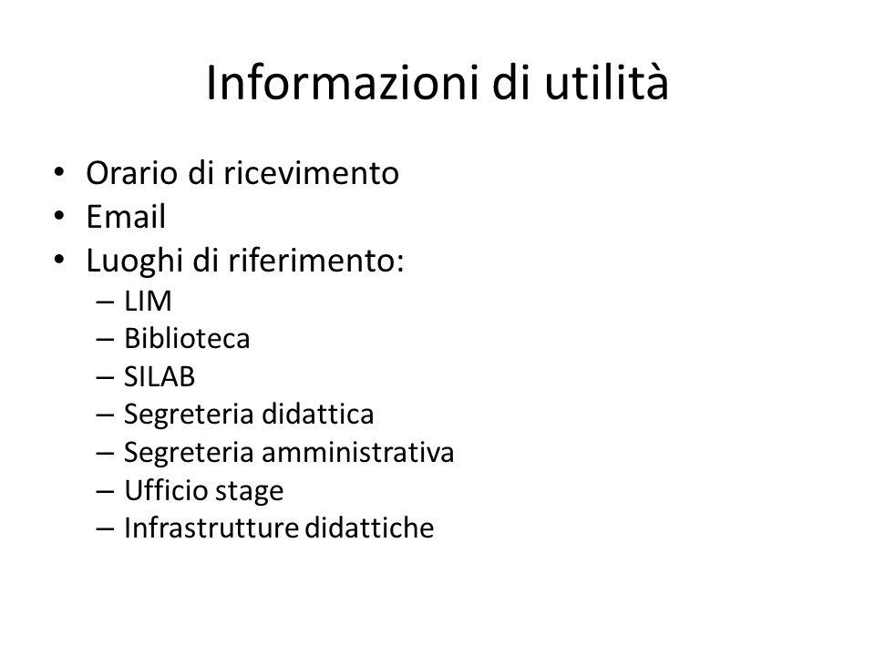 Informazioni di utilità