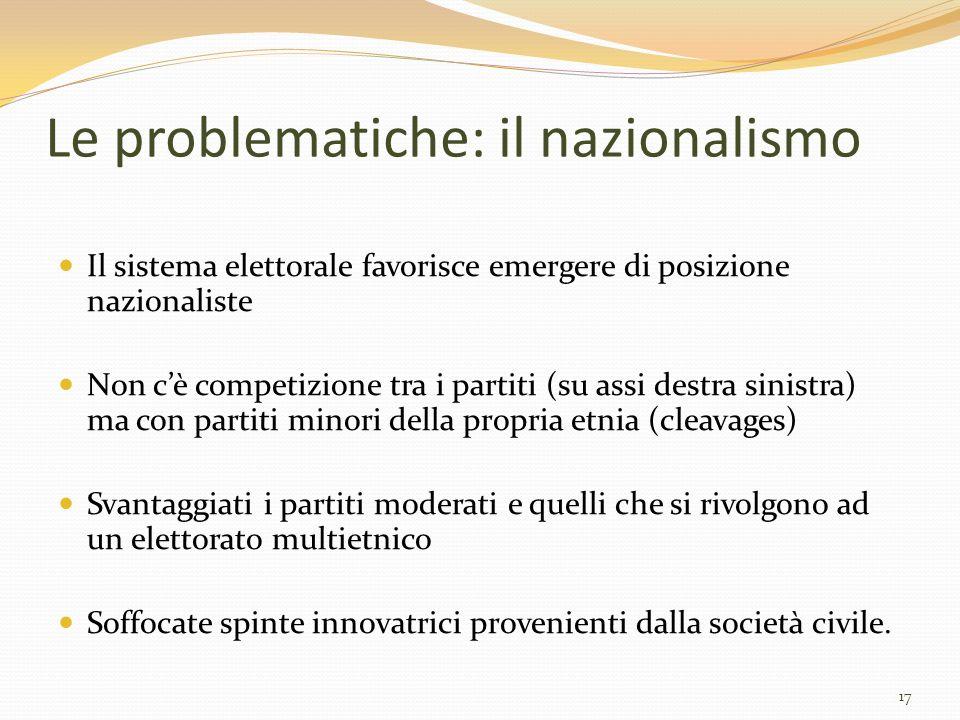 Le problematiche: il nazionalismo