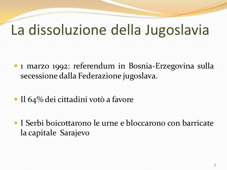 La dissoluzione della Jugoslavia