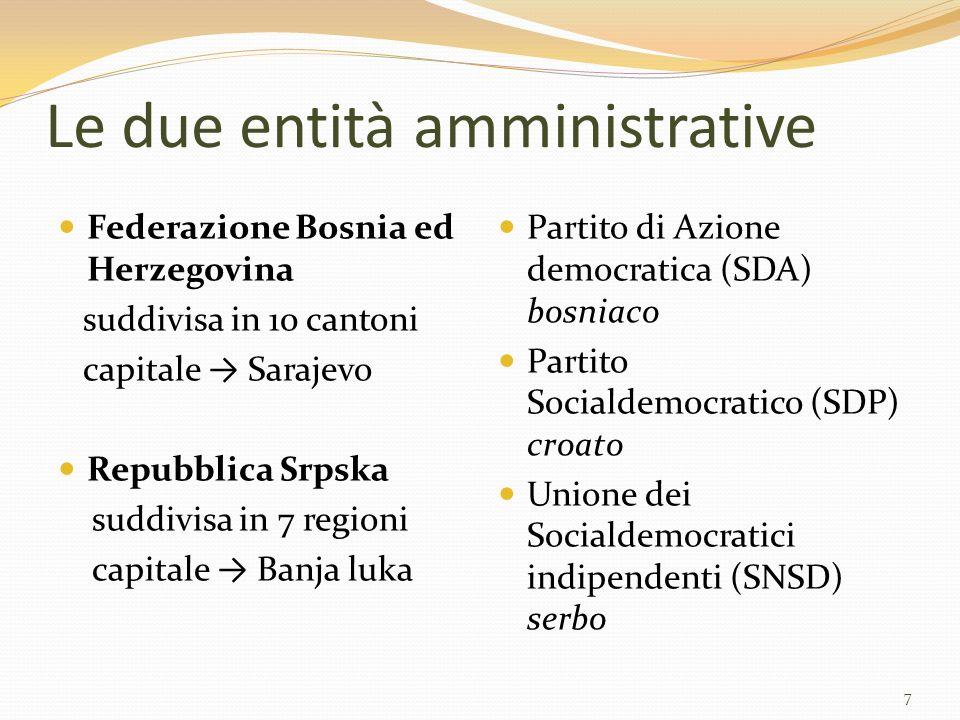 Le due entità amministrative
