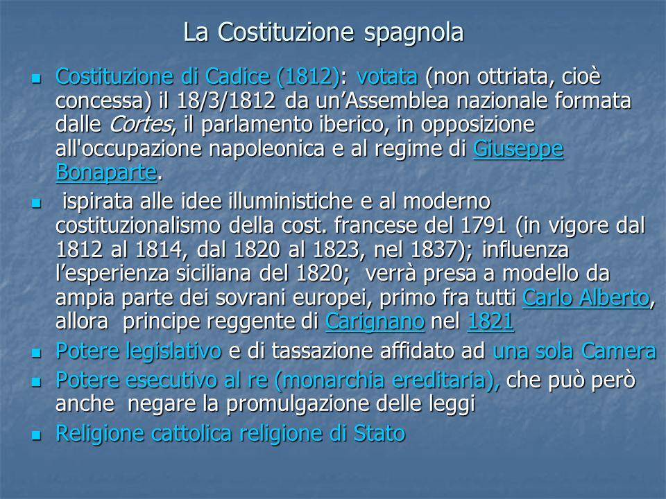 La Costituzione spagnola