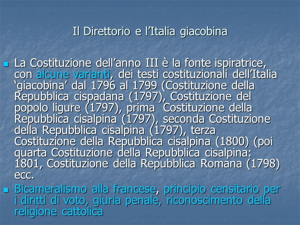 Il Direttorio e l'Italia giacobina