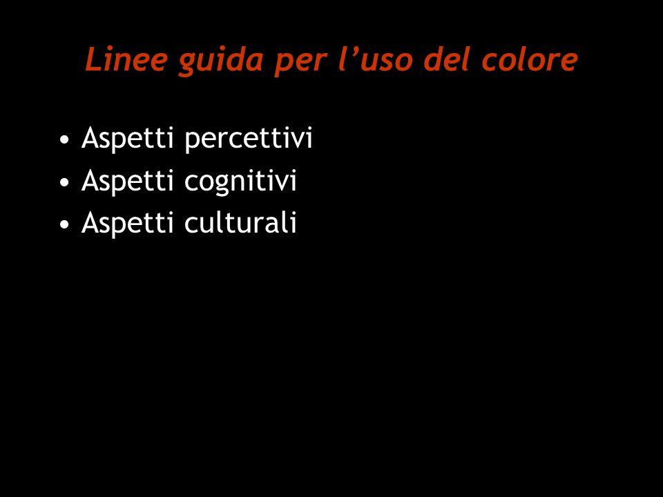 Linee guida per l'uso del colore