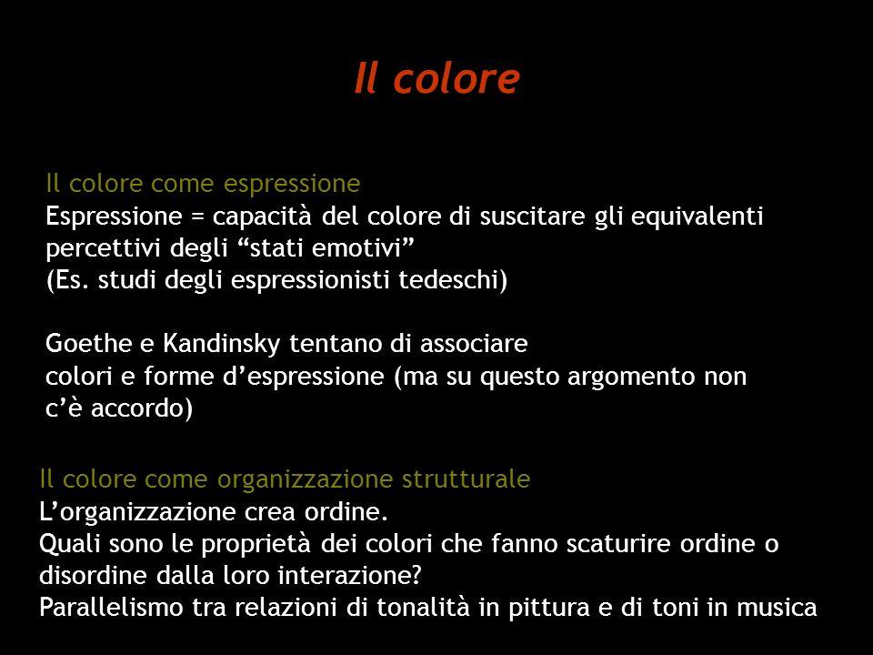 Il colore Il colore come espressione