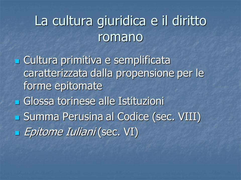 La cultura giuridica e il diritto romano