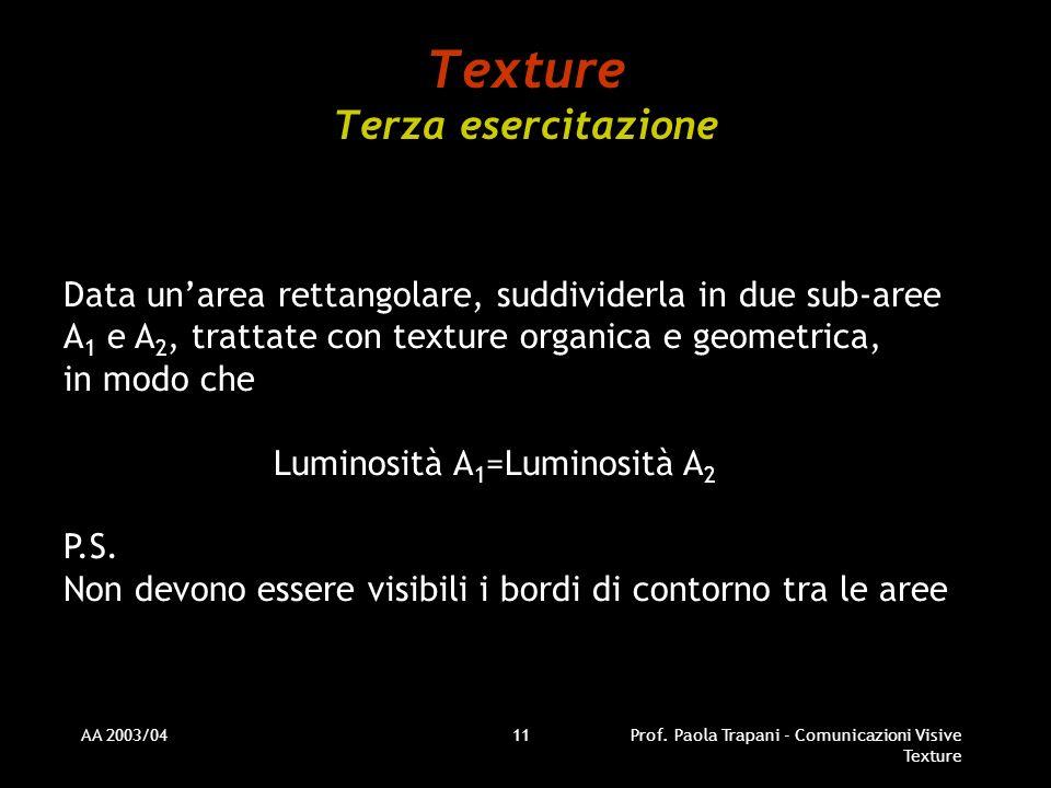 Texture Terza esercitazione